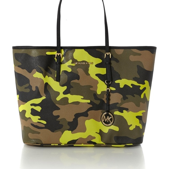 b7183d368b54 Michael Kors Jetset Acid Yellow Camo Bag $395. M_5ae3b42046aa7cdbf88dc1d9.  Other Bags ...